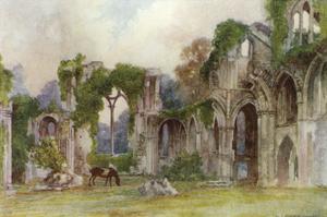 Netley Abbey, East Window by Warwick Goble