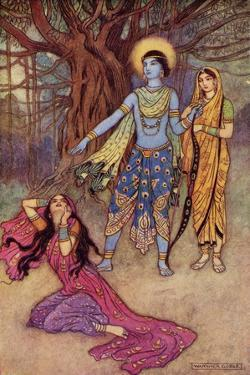 Rama Spurns the Demon Lover by Warwick Goble