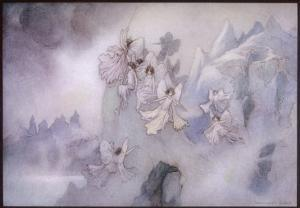 The Ice Fairies Arrive at Mother Careys Pool by Warwick Goble