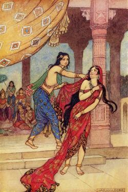 The Ordeal of Queen Draupadi by Warwick Goble