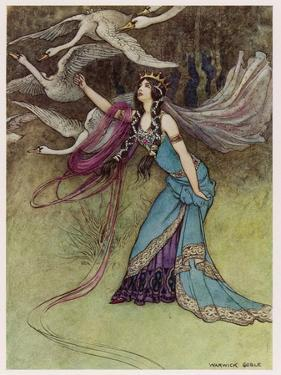 The Queen and the Six Swans by Warwick Goble