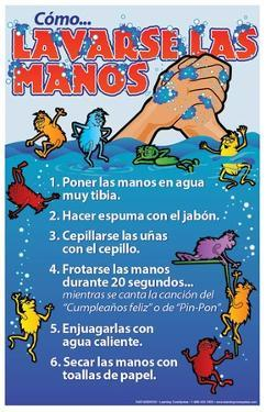 Wash Your Hands Spanish Poster