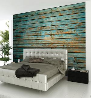 Washed Timber Wall Mural