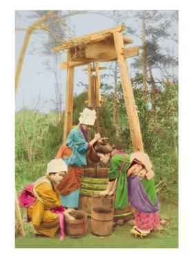 Washing Rice at the Well