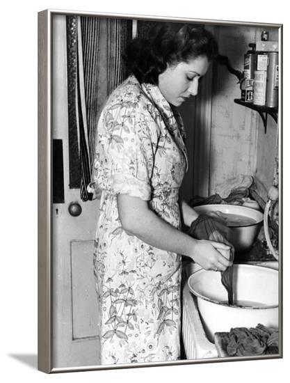 Washing Stockings, 1940s--Framed Photographic Print