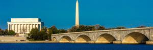 WASHINGTON D.C. - Memorial Bridge spans Potomac River and features Lincoln Memorial and Washingt...