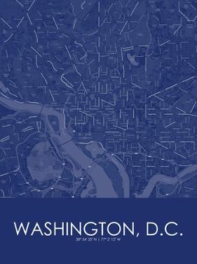Washington, D.C., United States of America Blue Map