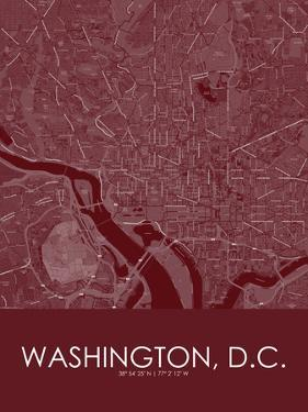 Washington, D.C., United States of America Red Map