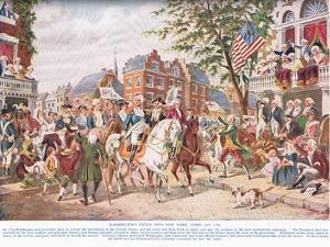 Washington Enters New York, C.1910