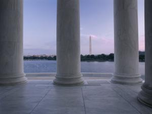 Washington Monument and Jefferson Memorial Columns Washington, D.C. USA
