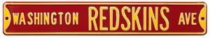 Washington Redskins Ave Steel Sign