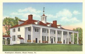 Washington's Mansion, Mt. Vernon, Virginia
