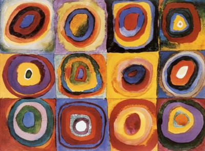 Farbstudie Quadrate mit Konzentrischen Ringen by Wassily Kandinsky