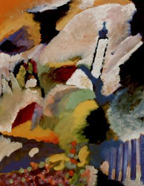 Kirche in Murnau, 1910 by Wassily Kandinsky