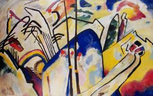 Komposition 4 ,1939 by Wassily Kandinsky