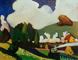 Landscape with Locomotive, 1909 by Wassily Kandinsky