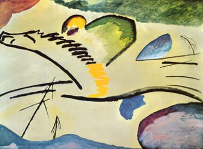 Man On A Horse by Wassily Kandinsky