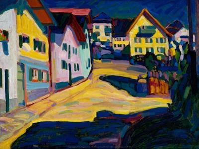 Murnau Burggrabenstrasse, 1908 by Wassily Kandinsky