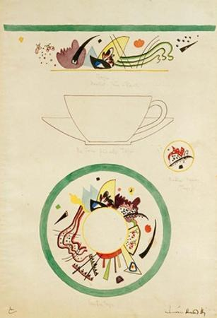 Sketch for a Cup and Saucer, 1920 by Wassily Kandinsky