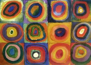 Squares with Concentric Circles by Wassily Kandinsky