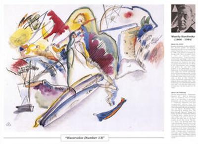 Twentieth Century Art Masterpieces -Wassily Kandinsky - Watercolor