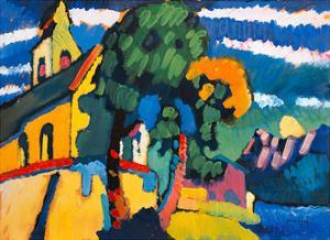 Village Church in Riegsee, Bavaria, 1907 by Wassily Kandinsky