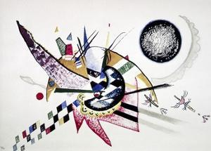 Watercolor Painting of Composition by Wassily Kandinsky