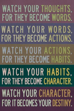 Watch Your Thoughts Modern Motivational