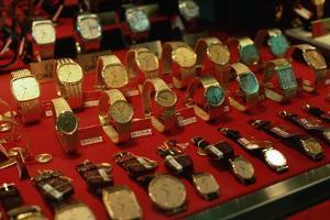 Watches in Jewelry Store Display