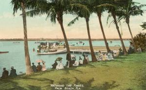 Watching Boat Races, Palm Beach, Florida