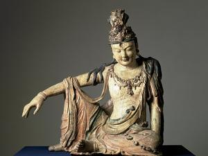 Water-And-Moon (Shuiyue) Guanyin, Xixia or Jin Dynasty, 12th or Early 13th Century