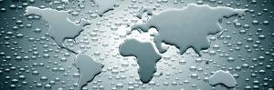 Water Drops Forming Continents