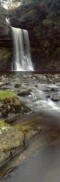 Water Falling from Rocks, River Twiss, Thornton Force, Ingeleton, North Yorkshire, England, UK