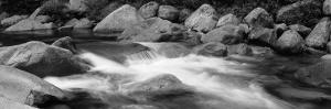Water Flowing through Rocks, Swift River, White Mountain National Forest, New Hampshire, USA