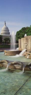 Water Fountain in Front of the U.S. Capitol Building, Washington D.C., USA