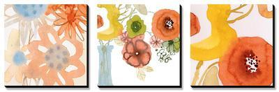 Watercolor Bouquets Triptych
