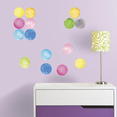 Watercolor Dots Peel and Stick Wall Decals