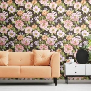 WATERCOLOR FLORAL BOUQUET REMOVABLE WALLPAPER