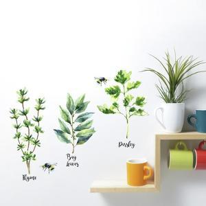 Watercolor Herb Peel And Stick Wall Decals