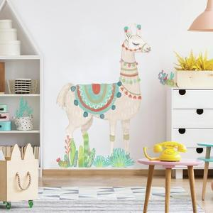 WATERCOLOR LLAMA PEEL AND STICK GIANT WALL DECAL