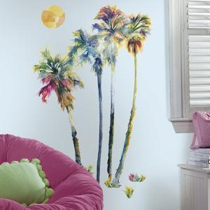 Watercolor Palm Trees Peel And Stick Giant Wall Decals