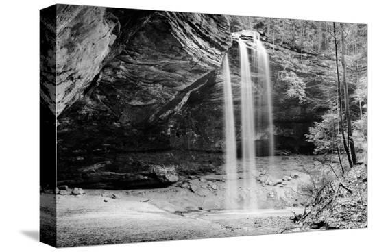 Waterfall, Hocking Hills State Park, Ohio--Stretched Canvas Print