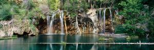 Waterfall in a forest, Hanging Lake, White River National Forest, Colorado, USA