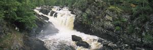 Waterfall in a Forest, Rogie Falls, Black Water River, Inverness, Ross and Cromarty