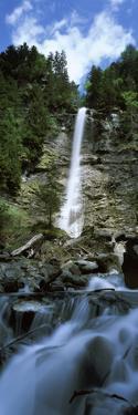 Waterfall in a Forest, Tatschbachfall, Engelberg, Obwalden Canton, Switzerland