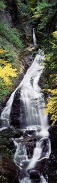 Waterfall in the Forest, Moss Glen Falls, CC Putnam State Forest, Stowe, Vermont, USA