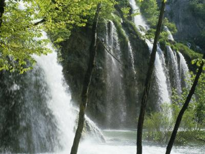 Waterfall in the Plitvice Lakes National Park, Unesco World Heritage Site, Croatia