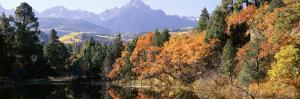 Waterfront and Mountain Range, Uncompahgre National Forest, Colorado, USA