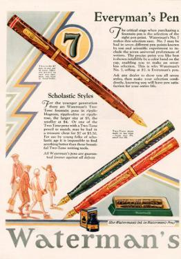 Waterman's, Magazine Advertisement, UK, 1929