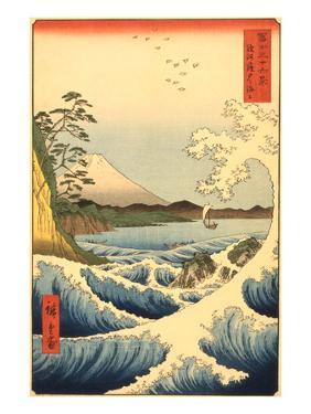 Wave and Fujiama, Japan